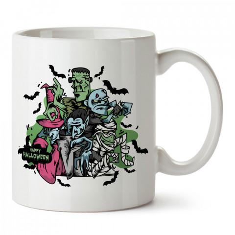Frankenstein Cadılar Bayramı tasarım baskılı halloween kupa bardak (mug bardak). Cadılar Bayramına özel hediyeler. Cadılar bayramı hediyesi. Halloween hediyesi.