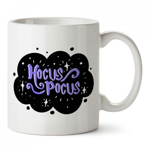 Hokus Pokus Sihir tasarım baskılı halloween kupa bardak (mug bardak). Cadılar Bayramına özel hediyeler. Cadılar bayramı hediyesi. Halloween hediyesi.