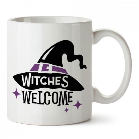 Hoşgeldiniz Cadılar Bayramı tasarım baskılı halloween kupa bardak (mug bardak). Cadılar Bayramına özel hediyeler. Cadılar bayramı hediyesi. Halloween hediyesi.