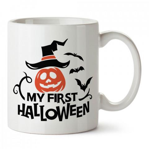 İlk Cadılar Bayramım tasarım baskılı halloween kupa bardak (mug bardak). Cadılar Bayramına özel hediyeler. Cadılar bayramı hediyesi. Halloween hediyesi.