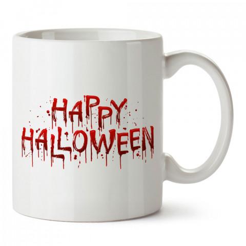 Kanlı Cadılar Bayramı tasarım baskılı halloween kupa bardak (mug bardak). Cadılar Bayramına özel hediyeler. Cadılar bayramı hediyesi. Halloween hediyesi.