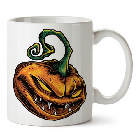 Korkunç Bal Kabağı Cadılar Bayramı tasarım baskılı halloween kupa bardak (mug bardak). Cadılar Bayramına özel hediyeler. Cadılar bayramı hediyesi. Halloween hediyesi.