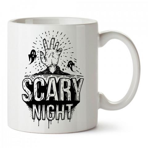 Korkunç Gece Cadılar Bayramı tasarım baskılı halloween kupa bardak (mug bardak). Cadılar Bayramına özel hediyeler. Cadılar bayramı hediyesi. Halloween hediyesi.