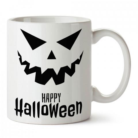 Korkunç Happy Halloween Cadılar Bayramı tasarım baskılı halloween kupa bardak (mug). Cadılar Bayramına özel hediyeler. Cadılar bayramı hediyesi. Halloween hediyesi.