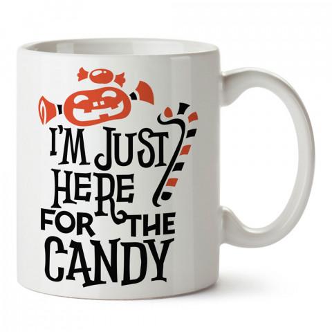Sadece Şeker Cadılar Bayramı tasarım baskılı halloween kupa bardak (mug bardak). Cadılar Bayramına özel hediyeler. Cadılar bayramı hediyesi. Halloween hediyesi.