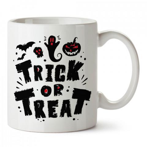 Şeker Ya Da Oyun Cadılar Bayramı tasarım baskılı halloween kupa bardak (mug bardak). Cadılar Bayramına özel hediyeler. Cadılar bayramı hediyesi. Halloween hediyesi.