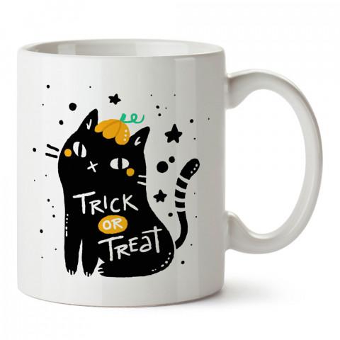 Trick Or Treat Kedi Cadılar Bayramı tasarım baskılı halloween kupa bardak (mug bardak). Cadılar Bayramına özel hediyeler. Cadılar bayramı hediyesi. Halloween hediyesi.
