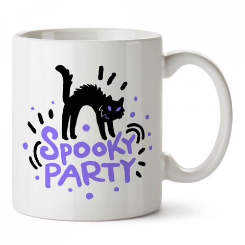 Ürpertici Parti Kedi Cadılar Bayramı tasarım baskılı halloween kupa bardak (mug bardak). Cadılar Bayramına özel hediyeler. Cadılar bayramı hediyesi. Halloween hediyesi.