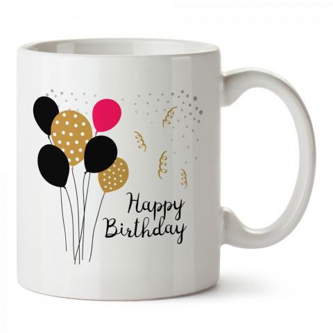 Doğum Günü Balonlar tasarım baskılı hediye kupa bardak (mug). Doğum günlerine özel hediyeler. Doğum günü hediye fikirleri burada. Doğum gününde ne hediye alınır?