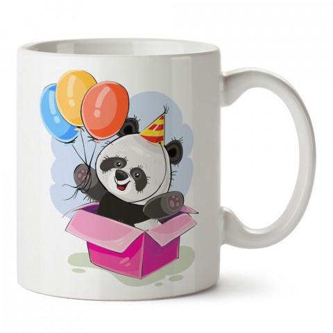 Doğum Günü Balonlu Panda tasarım baskılı hediye kupa bardak (mug). Doğum günlerine özel hediyeler. Doğum günü hediye fikirleri burada. Doğum gününde ne hediye alınır?