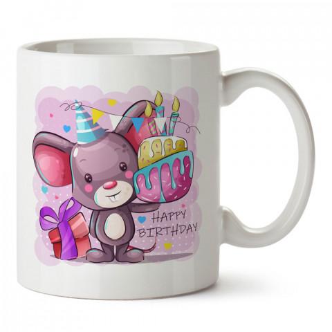Doğum Günü Faresi tasarım baskılı hediye kupa bardak (mug). Doğum günlerine özel hediyeler. Doğum günü hediye fikirleri burada. Doğum gününde ne hediye alınır?