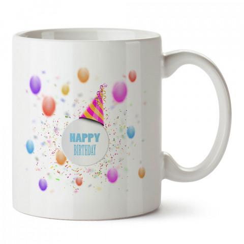 Doğum Günü Konfetiler tasarım baskılı hediye kupa bardak (mug). Doğum günlerine özel hediyeler. Doğum günü hediye fikirleri burada. Doğum gününde ne hediye alınır?