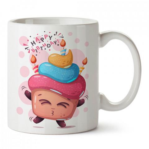 Doğum Günü Mutlu Cupcake tasarım baskılı hediye kupa bardak (mug). Doğum günlerine özel hediyeler. Doğum günü hediye fikirleri burada. Doğum gününde ne hediye alınır?