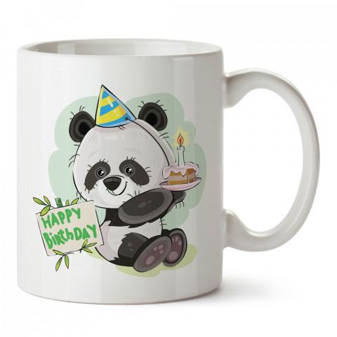 Doğum Günü Pandası tasarım baskılı hediye kupa bardak (mug). Doğum günlerine özel hediyeler. Doğum günü hediye fikirleri burada. Doğum gününde ne hediye alınır?