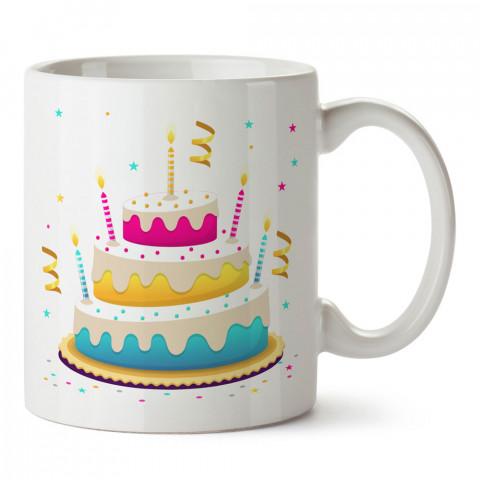 Doğum Günü Pastası tasarım baskılı hediye kupa bardak (mug). Doğum günlerine özel hediyeler. Doğum günü hediye fikirleri burada. Doğum gününde ne hediye alınır?