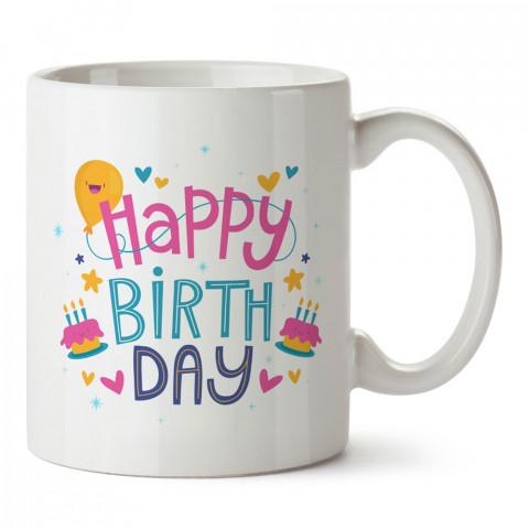 Doğum Günü Tipografik tasarım baskılı hediye kupa bardak (mug). Doğum günlerine özel hediyeler. Doğum günü hediye fikirleri burada. Doğum gününde ne hediye alınır?