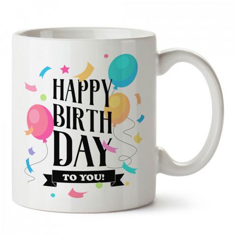 İyi Ki Doğdun Balonlar tasarım baskılı hediye kupa bardak (mug). Doğum günlerine özel hediyeler. Doğum günü hediye fikirleri burada. Doğum gününde ne hediye alınır?