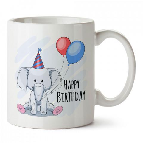 İyi Ki Doğdun Fil tasarım baskılı hediye kupa bardak (mug). Doğum günlerine özel hediyeler. Doğum günü hediye fikirleri burada. Doğum gününde ne hediye alınır?