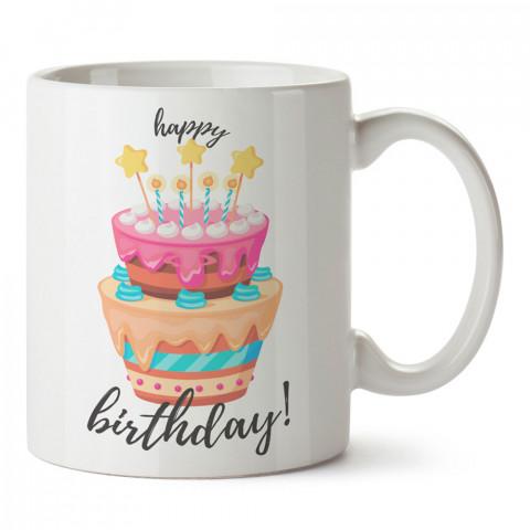Katlı Doğum Günü Pastası tasarım baskılı hediye kupa bardak (mug). Doğum günlerine özel hediyeler. Doğum günü hediye fikirleri burada. Doğum gününde ne hediye alınır?