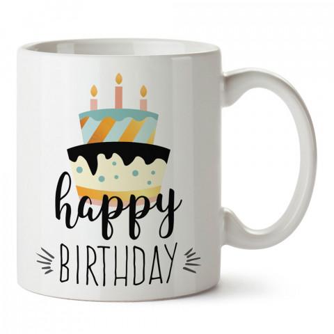 Pastalı Doğum Günü Kutlaması tasarım baskılı hediye kupa bardak (mug). Doğum günlerine özel hediyeler. Doğum günü hediye fikirleri burada. Doğum gününde ne hediye alınır?