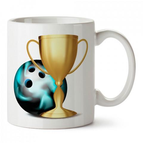 Bowling Kupası tasarım baskılı kupa bardak (mug bardak). Bowling tutkunlarına özel hediyeler. Bowling sevenlere hediye. Bowlingciye hediye kupa bardak.
