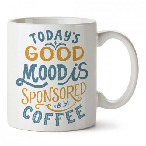 Kahve Sponsorlu Gün tasarım baskılı kupa bardak (mug bardak). Kahve bağımlılarına özel hediyeler. Kahve bağımlısına hediye. Kahve tasarım hediye kupa bardak.