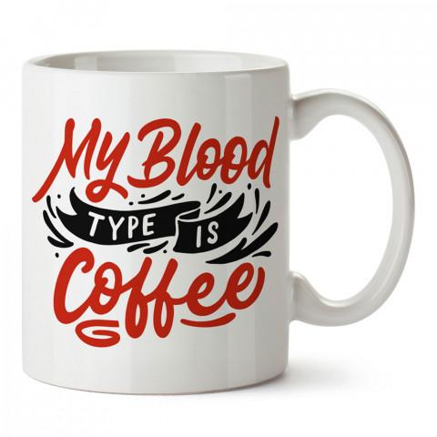 Kan Grubum Kahve tasarım baskılı kupa bardak (mug bardak). Kahve bağımlılarına özel hediyeler. Kahve bağımlısına hediye. Kahve tasarım hediye kupa bardak.