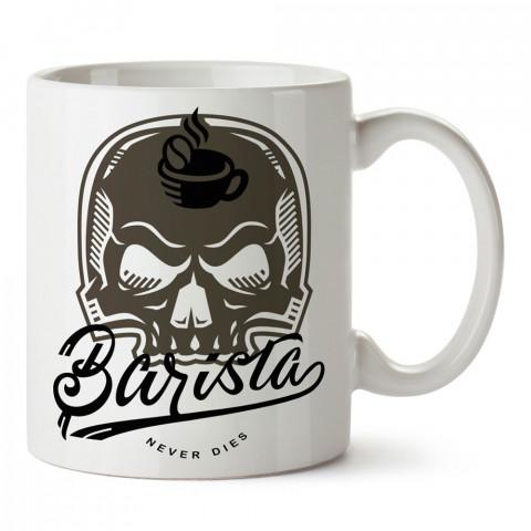Kuru Kafa Barista tasarım baskılı kupa bardak (mug bardak). Kahve bağımlılarına özel hediyeler. Kahve bağımlısına hediye. Kahve tasarım hediye kupa bardak.
