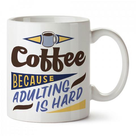 Neden Kahve tasarım baskılı kupa bardak (mug bardak). Kahve bağımlılarına özel hediyeler. Kahve bağımlısına hediye. Kahve tasarım hediye kupa bardak.