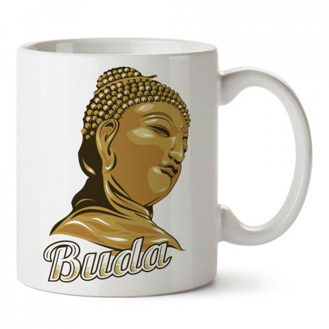 Buda Büstü Yoga tasarım baskılı kupa bardak (mug bardak). Yoga tutkunlarına özel hediyeler. Yogacılara hediyelik kupa. Yoga ürünleri. Yoga yapanlara hediye seçenekleri.