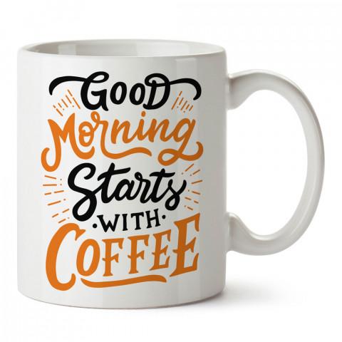 Sabah Kahvesi tasarım baskılı kupa bardak (mug bardak). Kahve bağımlılarına özel hediyeler. Kahve bağımlısına hediye. Kahve tasarım hediye kupa bardak.