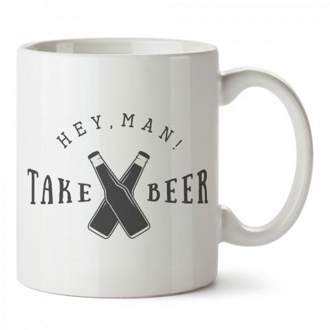 Bira Tokuşturma tasarım baskılı kupa bardak (mug bardak). Bira severlere özel hediyeler. Bira sevenlere hediye. Bira tasarım hediye kupa bardak.