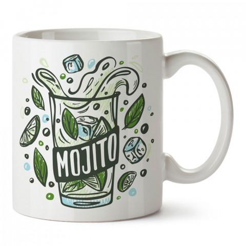 Mojito tasarım baskılı kupa bardak (mug bardak). Mojito severlere özel hediyeler. Mojito sevenlere hediye. Mojito tasarım hediye kupa bardak.