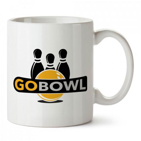 Gobowl Bowling tasarım baskılı kupa bardak (mug bardak). Bowling tutkunlarına özel hediyeler. Bowling sevenlere hediye. Bowlingciye hediye kupa bardak.
