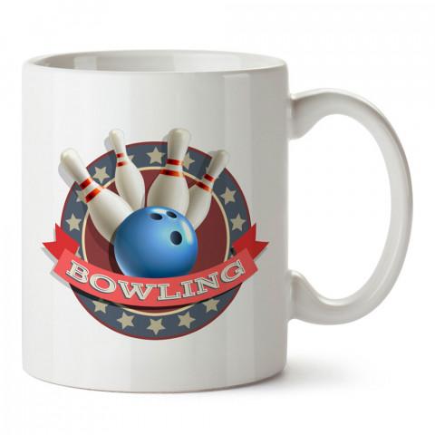 Labutlar Bowling Logo tasarım baskılı kupa bardak (mug bardak). Bowling tutkunlarına özel hediyeler. Bowling sevenlere hediye. Bowlingciye hediye kupa bardak.