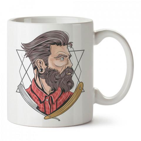 Razor Hipster tasarım baskılı kupa bardak (mug). Hipster hediyelik kupa bardak. Hipstera tasarım hediye. Hipster tarz tasarımlar. Hipster hediye çeşitleri.