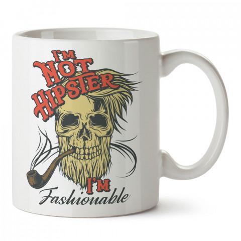 Şık Hipster Kuru Kafa tasarım baskılı kupa bardak (mug). Hipster hediyelik kupa bardak. Hipstera tasarım hediye. Hipster tarz tasarımlar. Hipster hediye çeşitleri.