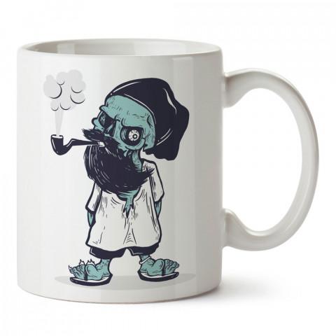Zombie Hipster Pipo tasarım baskılı kupa bardak (mug). Hipster hediyelik kupa bardak. Hipstera tasarım hediye. Hipster tarz tasarımlar. Hipster hediye çeşitleri.