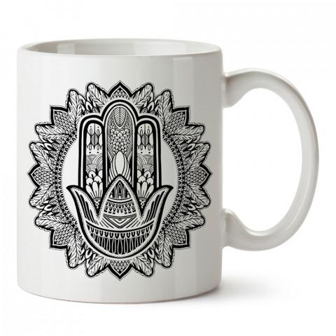 Namaste Mandala Yoga tasarım baskılı kupa bardak (mug). Yoga tutkunlarına özel hediyeler. Yogacılara hediyelik kupa. Yoga ürünleri. Yoga yapanlara hediye seçenekleri.