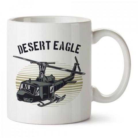 Çöl Kaplanı tasarım baskılı kupa bardak (mug). Havacılara hediye kupa. Pilota, havacıya, uçuş sevene, hava sporları tutkunlarına hediye kupa bardak.