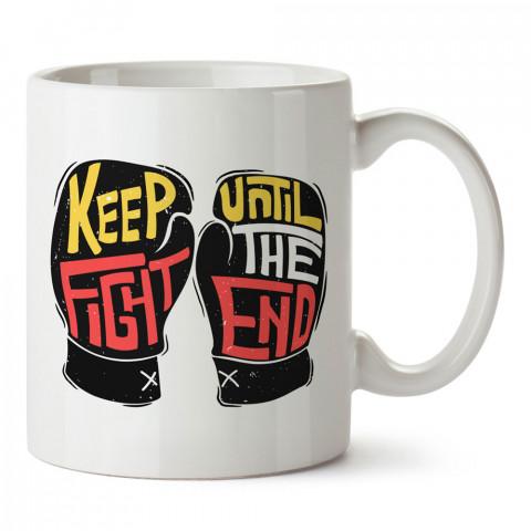 Boks Eldivenleri Sonuna Kadar Savaş tasarım baskılı porselen kupa bardak (mug). Dövüşçülere hediye tasarım kupa. Dövüş tutkunlarına hediye. Dövüşçüye en güzel hediye.