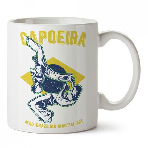 Brezilya Savaş Sanatı Capoeira tasarım baskılı porselen kupa bardak (mug). Dövüşçülere hediye tasarım kupa bardak. Dövüş tutkunlarına hediye. Dövüşçüye en güzel hediye.