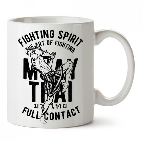 Savaşçı Ruh Thai Box Muay Thai tasarım baskılı porselen kupa bardak (mug bardak). Dövüşçülere hediye tasarım kupa. Dövüş tutkunlarına hediye. Dövüşçüye en güzel hediye.