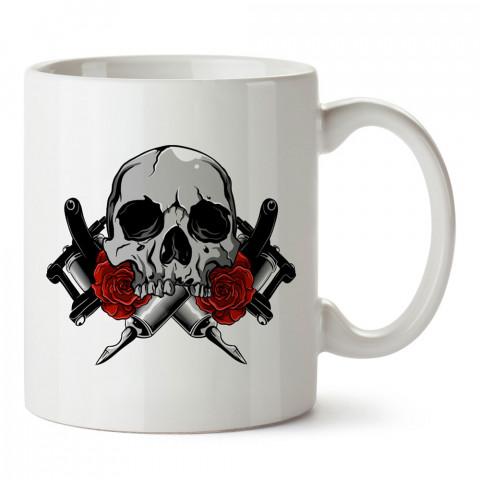 Dövme Makineleri Ve Dövme tasarım baskılı porselen kupa bardak modelleri (mug). Dövmecilere ve dövme severlere en güzel hediye. Tattoo sevene özel hediye kahve kupası.