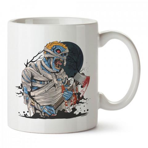 Baltalı Mavi Zombi tasarım baskılı porselen kupa bardak modelleri (mug bardak). Zombili hediyelik kupa bardak. Zombi karakterli en güzel hediyeler. Zombili tasarımlar.