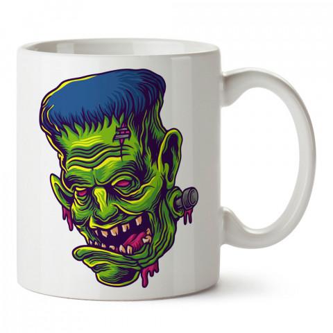 Frankenstein Yeşil Zombi tasarım baskılı kupa bardak modelleri (mug bardak). Zombili hediyelik kupa bardak. Zombi karakterli en güzel hediyeler. Zombili tasarımlar.