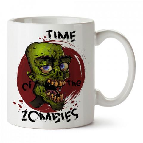 Zombilerin Zamanı tasarım baskılı porselen kupa bardak modelleri (mug bardak). Zombili hediyelik kupa bardak. Zombi karakterli en güzel hediyeler. Zombili tasarımlar.