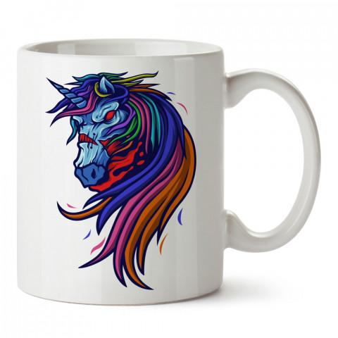Zombi Unicorn tasarım baskılı porselen kupa bardak modelleri (mug bardak). Zombili hediyelik kupa bardak. Zombi karakterli en güzel hediyeler. Zombili tasarımlar.