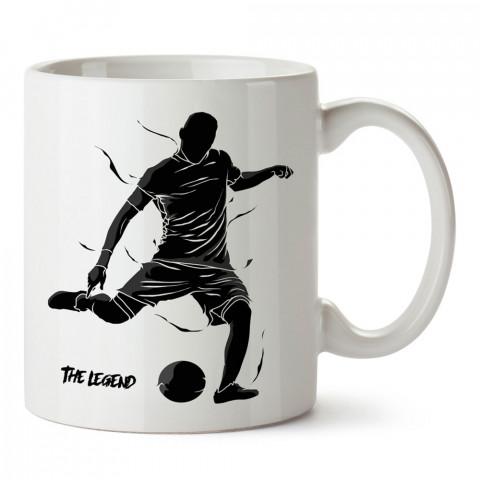 Efsane Futbolcu Siluet tasarım baskılı kupa bardak (mug). Futbolculara ve futbol severlere hediyelik kupa. Futbol sevene en güzel hediye. Futbol konulu tasarımlar.