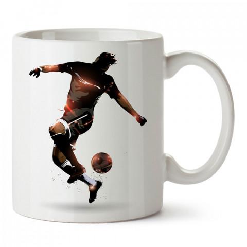 Futbolcu Top Aşırtma tasarım baskılı kupa bardak (mug). Futbolculara ve futbol severlere hediyelik kupa. Futbol sevene en güzel hediye. Futbol konulu tasarımlar.